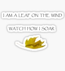 Leaf on the Wind (Light) Sticker