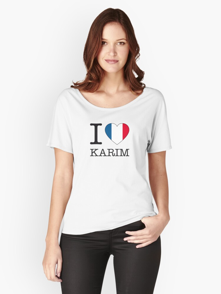 I ♥ KARIM Women's Relaxed Fit T-Shirt Front