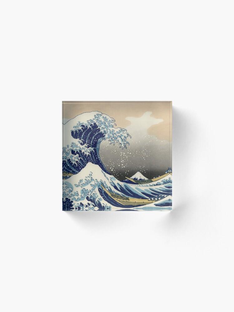 Alternate view of Great Wave Off Kanagawa  Acrylic Block