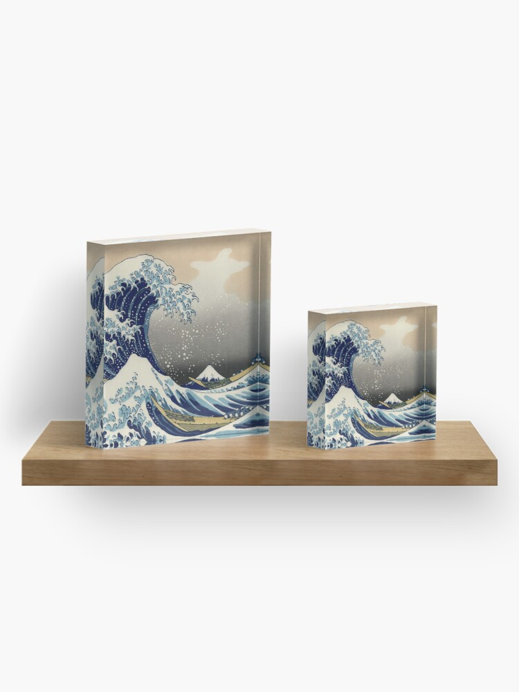 Alternate view of Great Wave Off Kanagawa  Acrylic Block