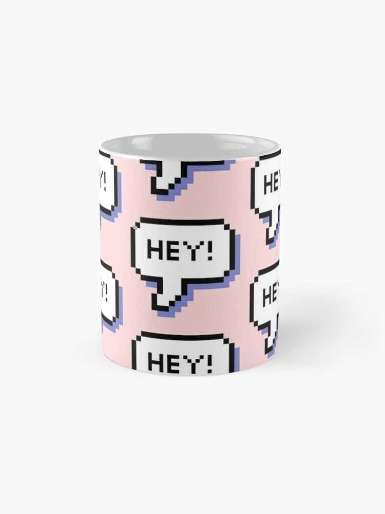 Alternate view of Hey! - Pixel Speech Bubble - (Mixed) Mug