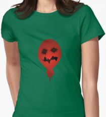 Evil Face Vector Illustration Womens Fitted T-Shirt