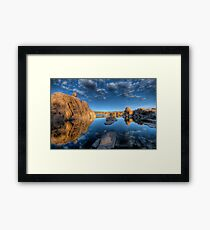 Rocks and Water and Clouds...Oh my Framed Print