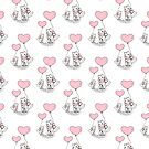 Cat And Kitten Pink Balloons by Zehda