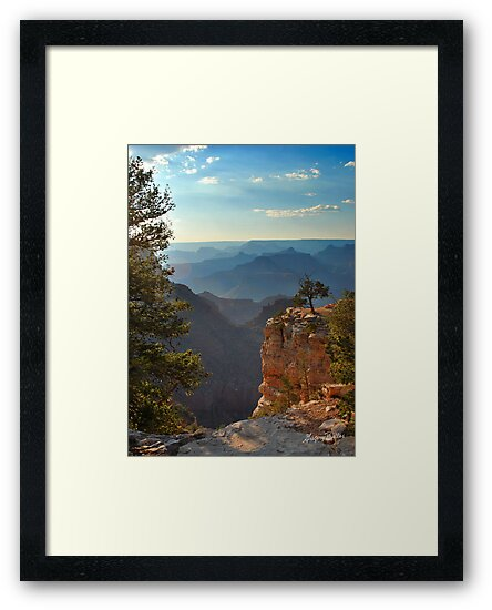 Sun Setting on Grand Canyon  by Gregory Ballos