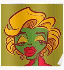 Marilyn Pop (Green) Poster