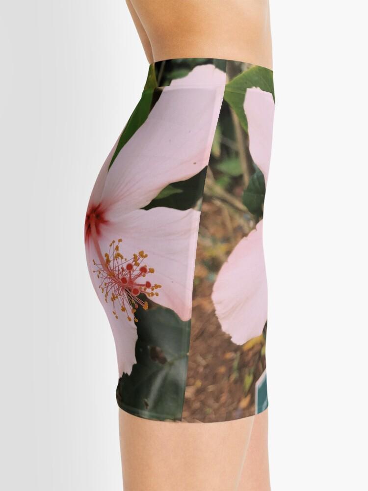 Alternative Ansicht von Rosa hawaiische Hibiskusblume Minirock
