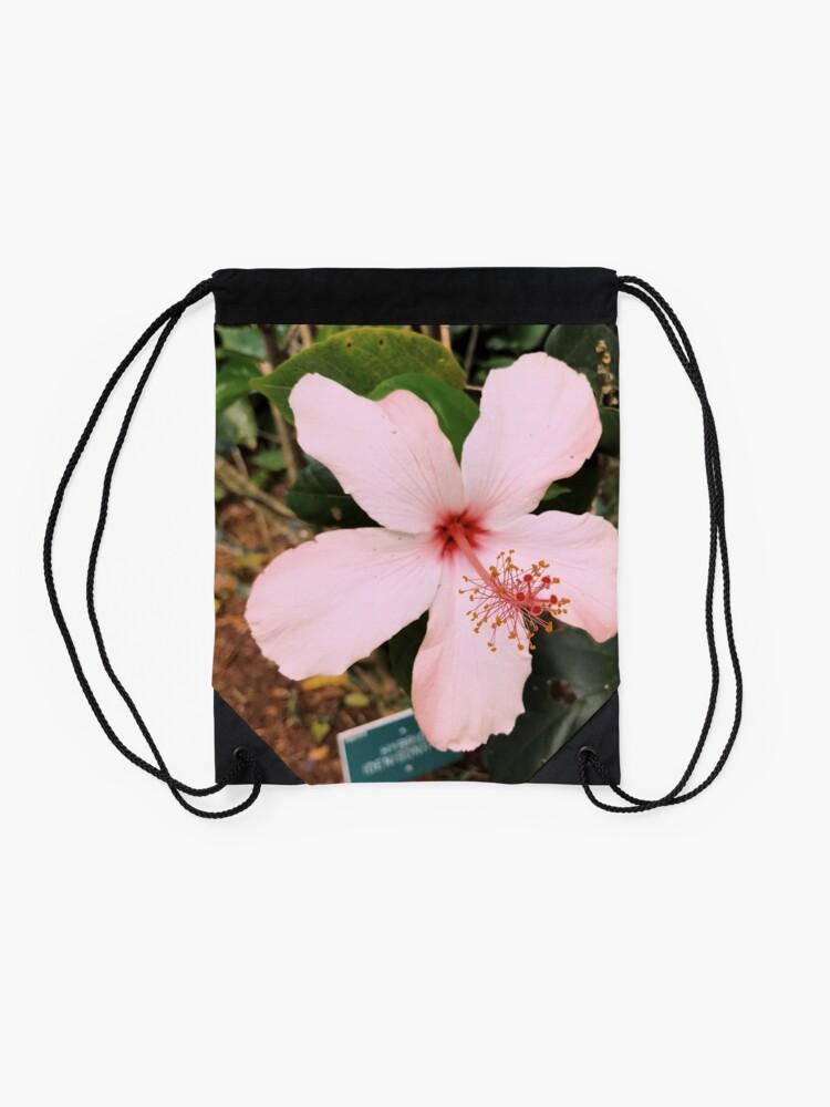 Alternative Ansicht von Rosa hawaiische Hibiskusblume Turnbeutel
