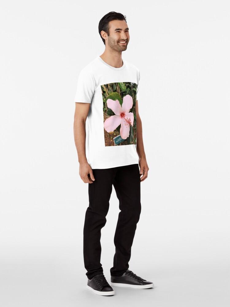 Alternative Ansicht von Rosa hawaiische Hibiskusblume Premium T-Shirt
