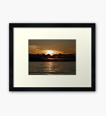 Pender Island Sunset Framed Print