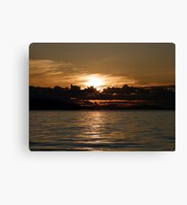 Pender Island Sunset Canvas Print