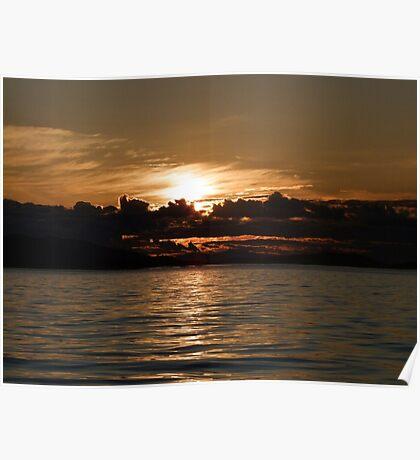 Pender Island Sunset Poster