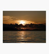 Pender Island Sunset Photographic Print