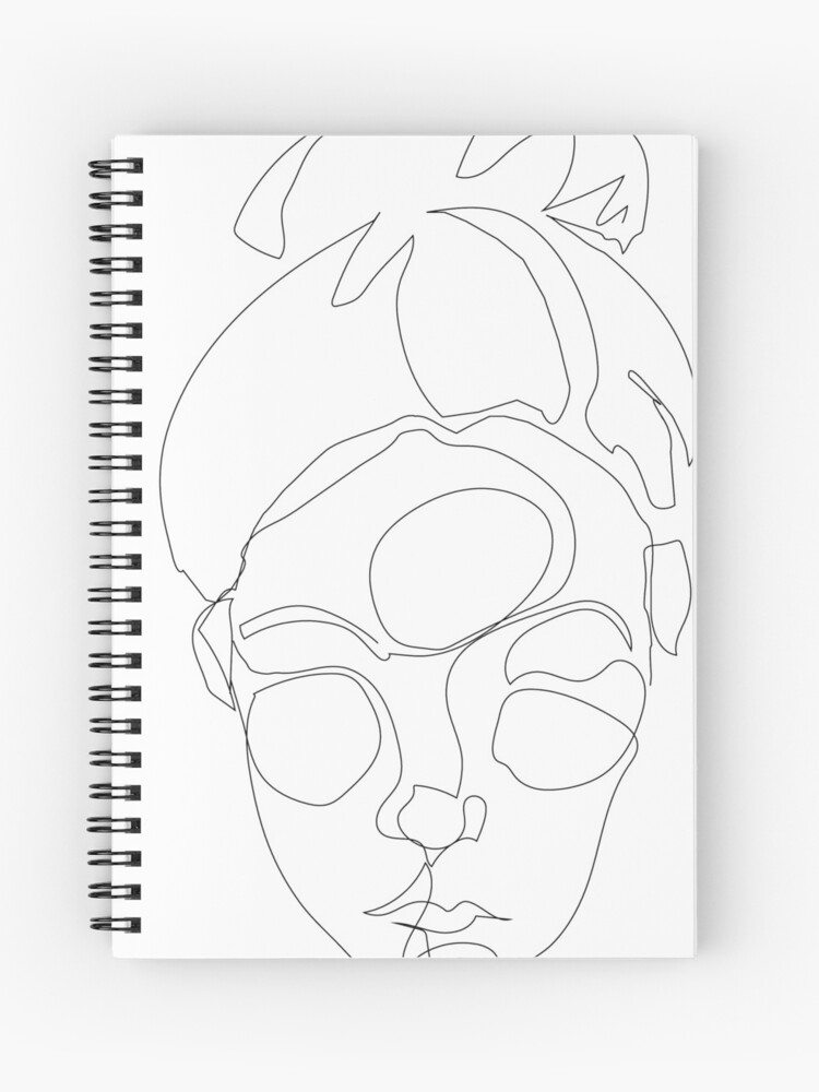 Picasso Abstract Art Female Face Spiral Notebook