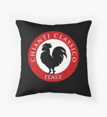 Black Rooster Italy Chianti Classico  Throw Pillow