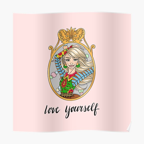 SOPHIE Love Yourself in Pink by Silvana Arias Poster