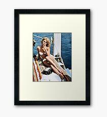 Brigitte Bardot Smoking in a Bikini Framed Print