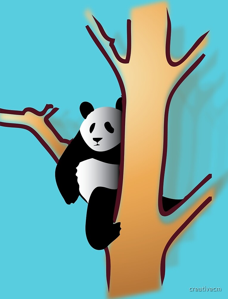panda in tree by creativecm