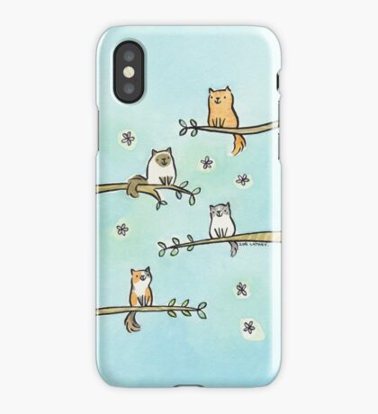 Cats in Trees iPhone Case