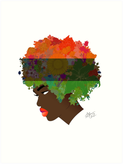 Pan-African Flag Flower 'Fro by AndiesPlace