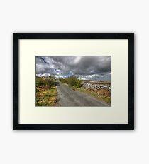 Rural Burren Road Framed Print