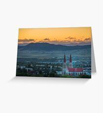Cathedral of St. Helena Sunset Greeting Card