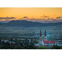 Cathedral of St. Helena Sunset Photographic Print