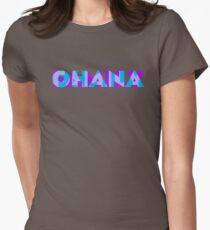 Ohana/Family - Blue & Purple Womens Fitted T-Shirt
