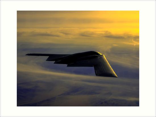 B-2 Spirit Bomber USAF digital painting by verypeculiar