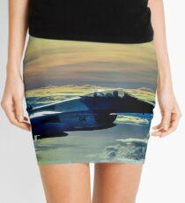 F-16 Fighting Falcon Digital Painting Mini Skirt