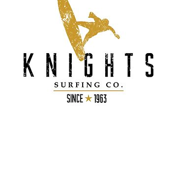 Knights Surfing Company Black & Gold Ocean by chargeon