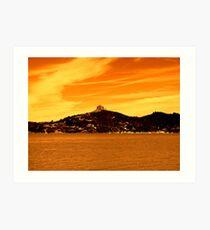 Golden Harbour Art Print