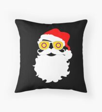 Santa Claus Intersex Pride Flag Sunglasses Throw Pillow