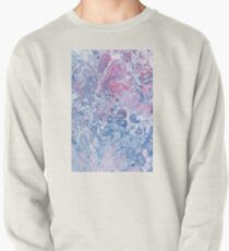 Pink & Blue - Abstract Art Pullover Sweatshirt