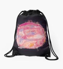 Abstract Planet - Bubblegum Drawstring Bag