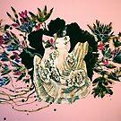 woman and prehistorical plant by Randi Antonsen