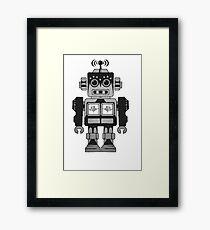 Retro Robot Framed Print