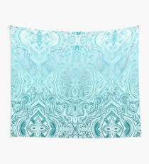 Twists & Turns in Turquoise & Teal  Wall Tapestry