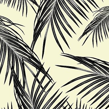 Black Palm Leaves Dream #3 #tropical #decor #art by anitabellajantz