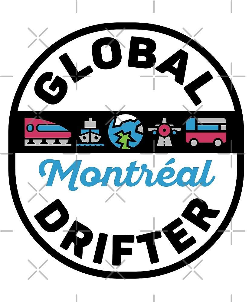 Montreal Canada Global Drifter by designkitsch