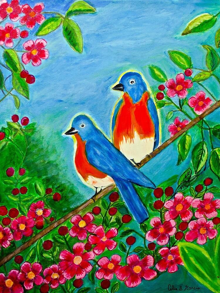 Birds In Tree2 by CeliaSGarciaArt