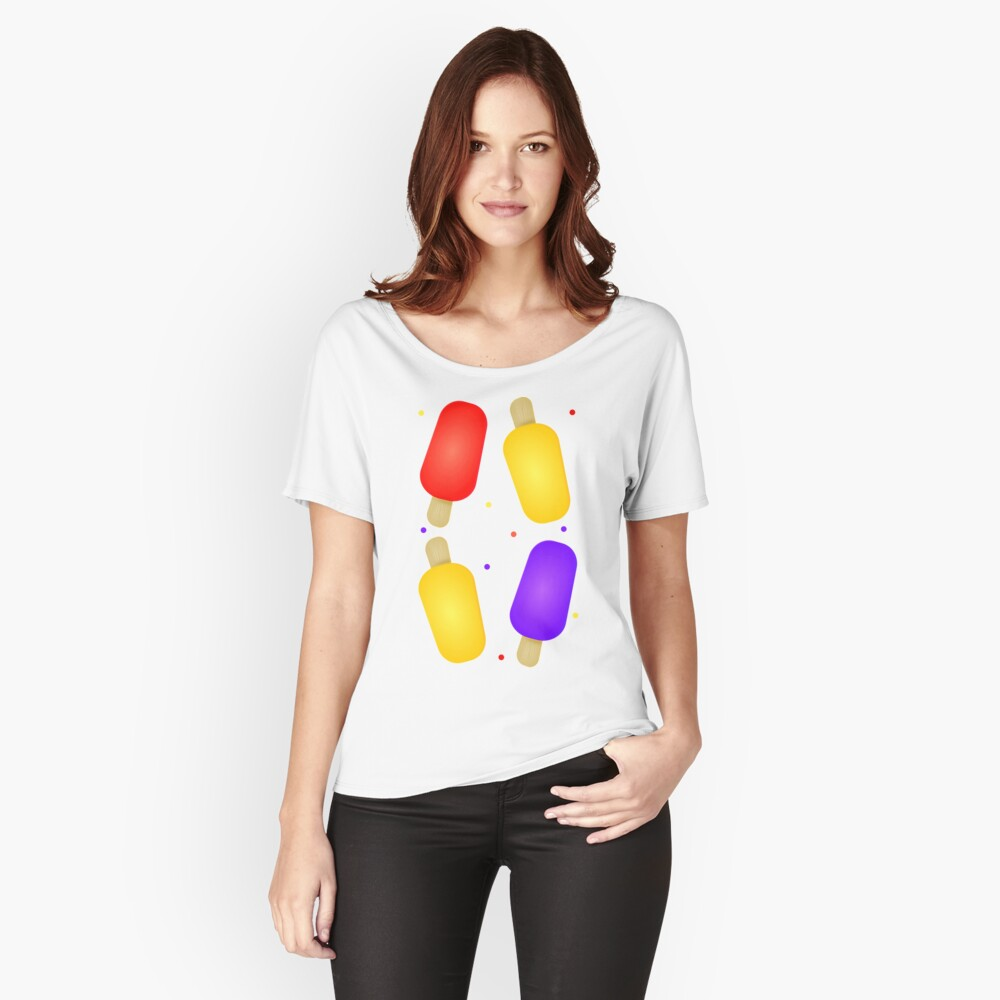 Colorful Popsicles  Relaxed Fit T-Shirt