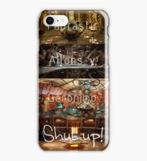 Doctor Who: Fantastic, Allons-y, Geronimo, Shut up iPhone Case/Skin