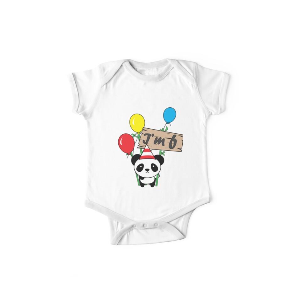 Cute cartoon panda 6th birthday gift  by handcraftline