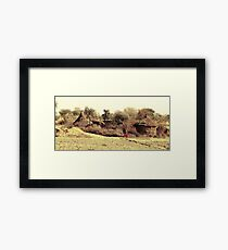 A Village in india. Framed Print