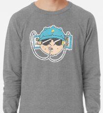 Beer Soda Guzzler Hat Goggles Cartoon Head Drawing Lightweight Sweatshirt