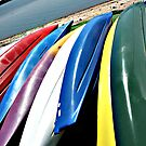 Kayak Colorstripes #6 by Dick  Iacovello
