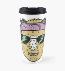 80s Surfer Lifeguard Sunscreen Dude Illustration Head Eighties Travel Mug