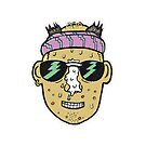 80s Surfer Lifeguard Sunscreen Dude Illustration Head Eighties by JustNukeIt