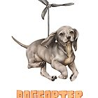 dogcopter with orange title  by Lavinia Knight